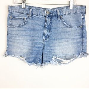 Free People Cut Off Frayed Distressed Shorts